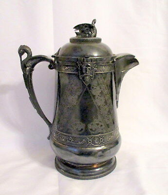 Magnificent Victorian Silverplate Water pitcher by A. Ledig&Son Philadelphia
