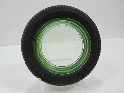 Vintage Goodrich Silvertown Tires Green Glass and Rubber Tire Dish Advertising