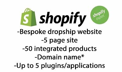 Bespoke Dropship Shopify Website -Products, Domain & Logo included - 5 pages