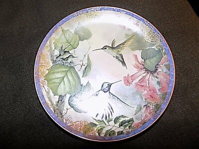Nature's Little Treasures Plate MINUTE ENCHANTMENT #7 Hummingbird Floral
