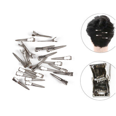 24X Set Metal Hair Sectioning Clips Sprung Strong Grip Hair Hairdressing Clip