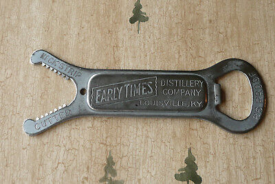 """Antique """"Early Times"""" Whiskey Bottle Opener, Neck Strip Cutter,  Louisville KY"""