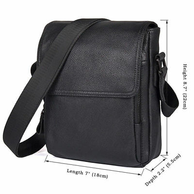df8004eda783 J.M.D Soft Leather Small Messenger Bag Travel Crossbody Shoulder Bag Black