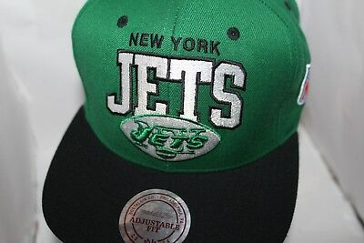 bea4dbc871f3f8 NFL MITCHELL & Ness New York Jets Throwback Arch Snapback Adjustable ...