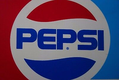 PEPSI Advertising Sign Two-Sided Plastic Vintage 1973-1990 EXCELLENT FREE SHIP