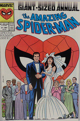 Marvel Comics The Amazing Spider man special wedding 1987  issue 21