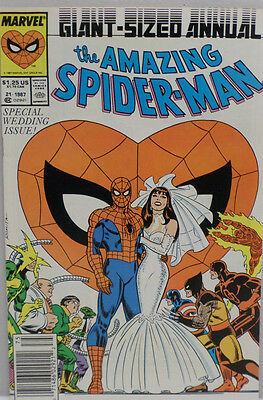 Marvel Comics The Amazing Spider man special wedding issue 1987 Giant Sized