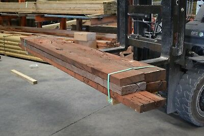 REDGUM SLEEPERS - assorted sizes & lengths -  5 pieces SECONDS - 6105