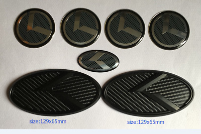 New 3D black carbon K badge Emblem 7pcs/set fit KIA new Forte YD K3 2014-2016