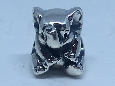 Authentic New Pandora Charm Lucky Elephant #791902 W/pouch