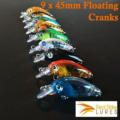 9 lures Trout Bass Fishing Lure Floating Tackle Cod Freshwater Bream