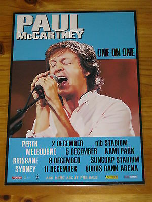 PAUL McCARTNEY - 2017 Australia Tour ONE ON ONE TOUR - Laminated Poster OFFICIAL
