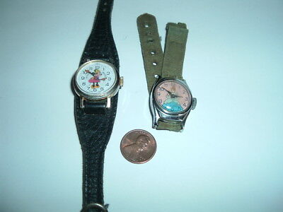 Lot of Two Vintage Character Watches - Snow White & Minnie Mouse