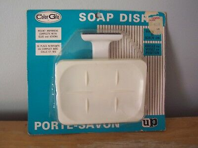 Vintage Color Glo Plastic Wall Mounting Soap Dish In Original Package
