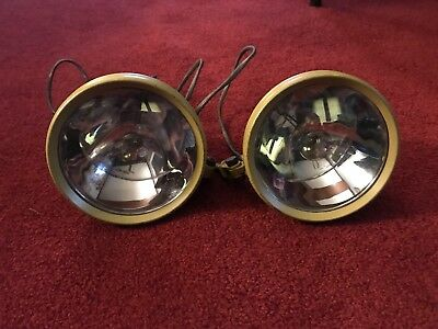 Rare Antique Boating lights Quarter Mile Ray Model 51Y set of two Chartreuse