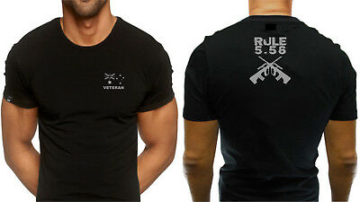 Veteran Australian Army Rule 5.56 T shirt Lest We Forget