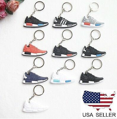 (10) Adidas NMD R1 Keychain Keyring Sneaker Shoe Yeezy 350 Boost USA Seller