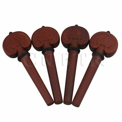 4pcs Musical Instruments Carved 4/4 Cello Tuning Peg Kit for Cello