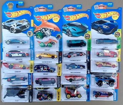 Mixed Lot Of 36 HOT WHEELS Cars On Cards No Duplicates NEW