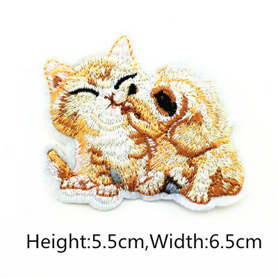 1/2PCS Animal Embroidered Sew On Patch  DIY Badge Bags Clothes Fabric Applique