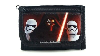 Disney Star Wars Kylo Ren Lightsaber Kids Tri-Fold Black Wallet for Boys