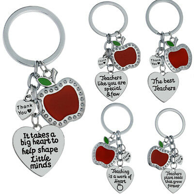 Apple Teachers Gifts Love Heart Pendant Presents For Teacher Accessories