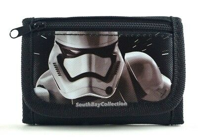 Stormtrooper Kids Black Trifold Wallet for Boys Disney Star Wars