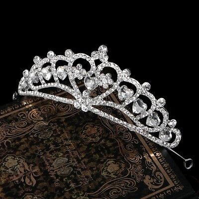 Bridal Crown Headband Tiara Princess Rhinestone Hair Band Wedding Party Gift