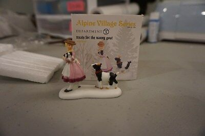 Department 56 Alpine Village Treats For The Nanny Goat 4025239 Retired
