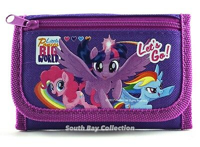 My Little Pony Kids Trifold Wallet for Girls with Zip Pocket Photo Holder MLP