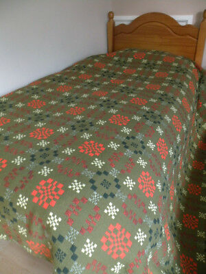 Vintage Welsh Wool Blanket Ex Cond Double.
