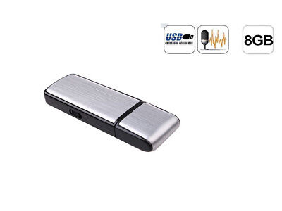 Multi-used 8GB USB Disk Pen Drive Digital Audio Voice Recorder 150 hrs Recording