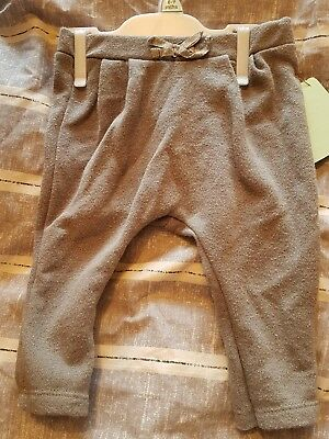 zara baby girls grey silver sparkle trousers 3-6 months