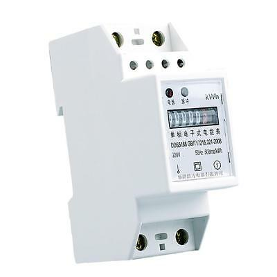 1 Phase, 2 Wire Power kWh Energy Sub Meter DIN Rail Mount 40A 10(40)A 50Hz