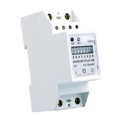 1 Phase, 2 Wire Power kWh Energy Sub Meter DIN Rail Mount 80A 20(80)A 50Hz