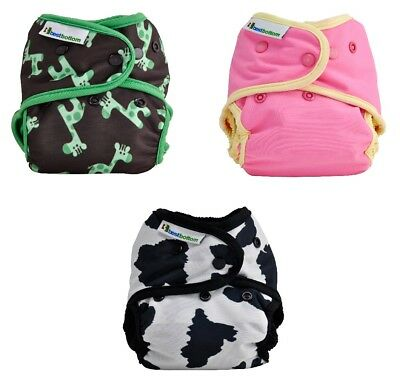 7x Best Bottom SNAP Cloth Diaper Shells One Size Fits Reusable Diapering Several