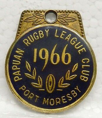 Rare Rugby League Badge...'papua Rugby League Club'...port Moresby...1966