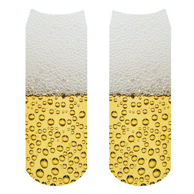 Hot Men Women fashion Low Cut Ankle Socks Cotton Beer bubbles Socks 1pair
