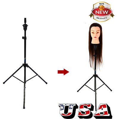Salon Tripod Stand Holder Hairdressing Training Head Model Hair Wigs Clamp  US