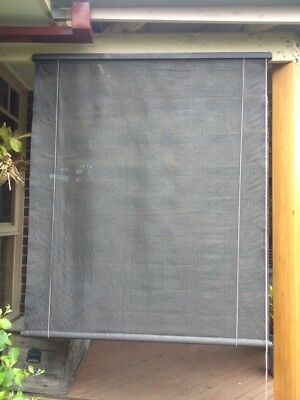 Outdoor roller blinds/shades, X 6 In Total, Charcoal / Grey Colour,