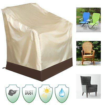 Waterproof Patio Single High Back Chair Covers Outdoor Yard Furniture Protection
