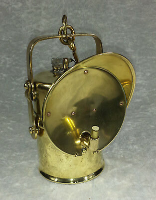 Bergbau Grubenlampe Karbidlampe Hesse Messing Antiquität Antik Original