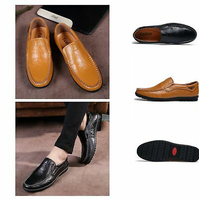 Mens Casual Leather Loafers Designer Slip On Shoes Boat Deck Driving UK 6-9