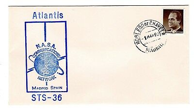 Shuttle 36 NASA Comm Network Madrid Spain Tracking & Support Souvenir Envelope