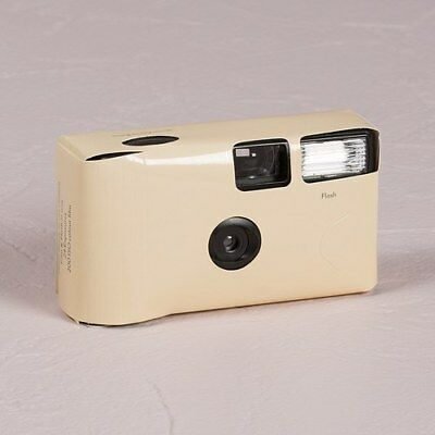 10 x Single Use Camera - Solid Ivory Colour Design - Wedding/ Party/ Function