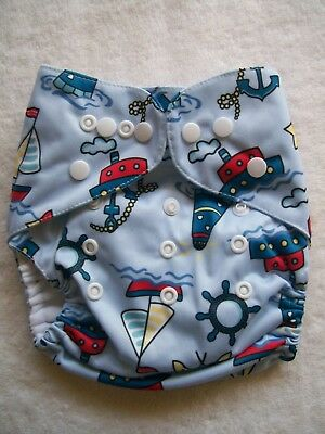 BNWNT Baby Boy's Reusable Nappy Cover Size 000-0