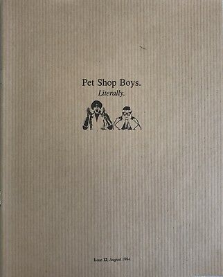 Pet Shop Boys Literally. Issue 12 August 1994