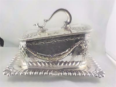Fine & elegant silver plated butter/cheese dish Sheffield 1930 c