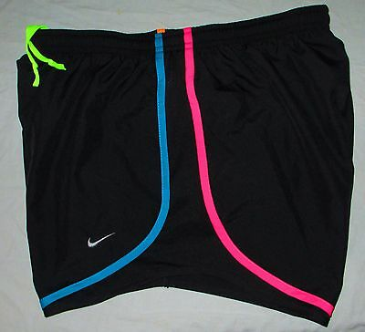 Nike Dri-Fit Tempo Running Shorts - Women's  Medium M (black/multi-colored) NWT
