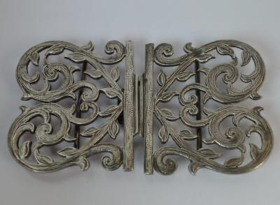 Beautiful Victorian Design Solid Silver Nurses Buckle